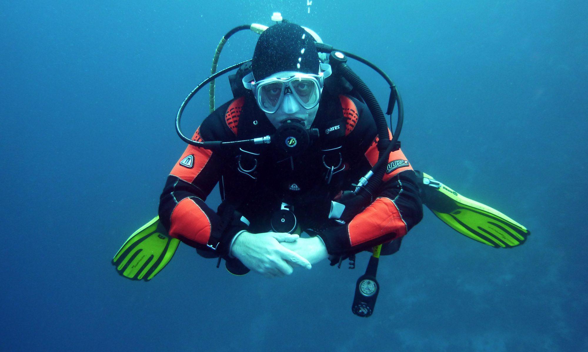 plongeur moniteur en formation